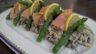 Изысканный салат из красной рыбы к празднику