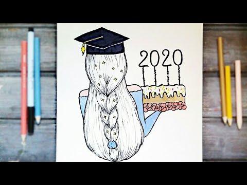 رسم سهل تعليم رسم بنت و قبعة تخرج سهل بطريقة سهلة وبسيطة Youtube