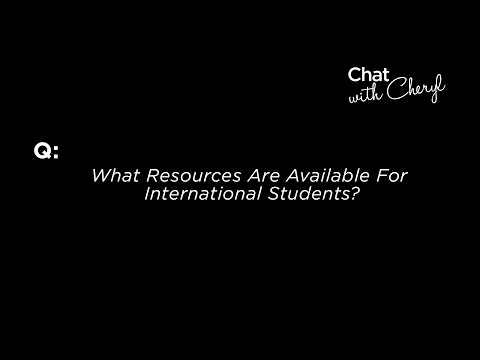 What Resources Are Available For International Students? - Chat With Cheryl
