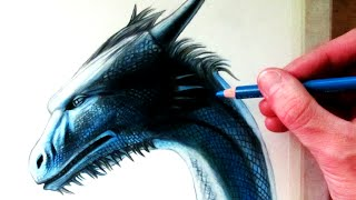 Drawing a Dragon Head - Saphira from Eragon