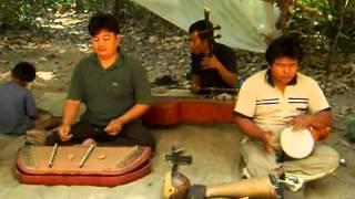 Amputee musicians at Angkor temples, Cambodia