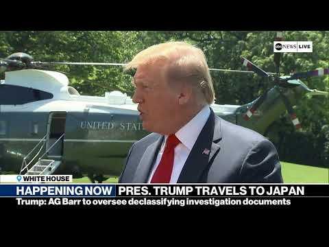 President Trump departs White House for trip to Japan | ABC News