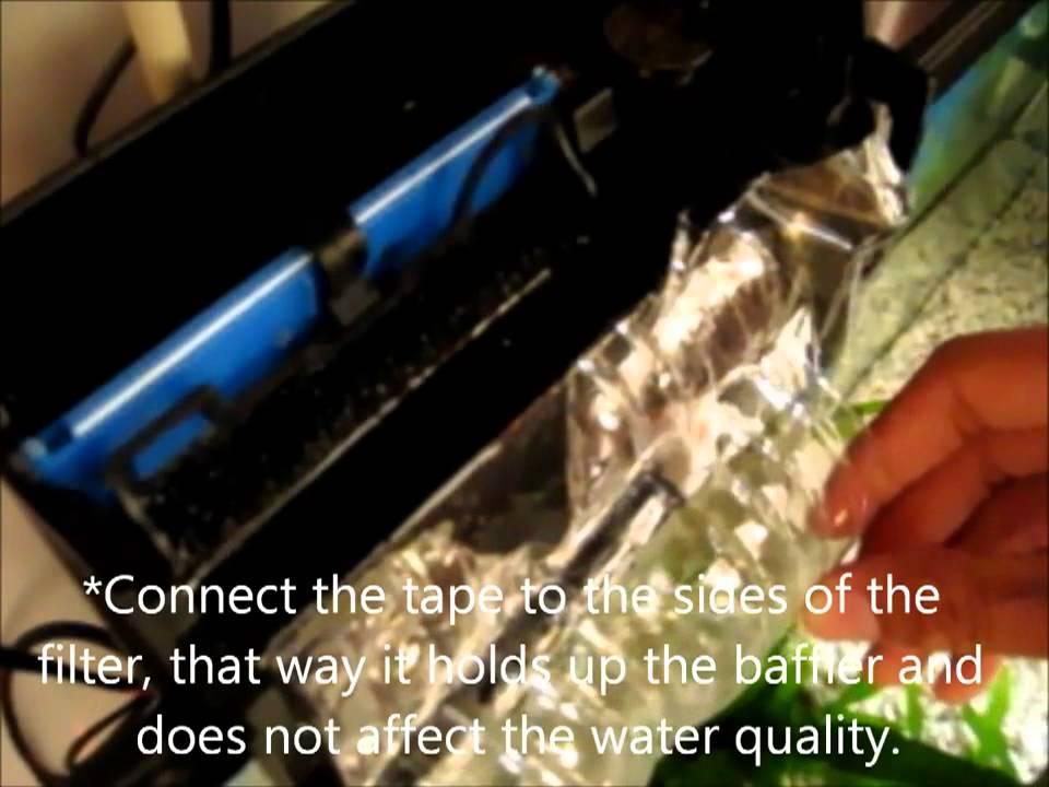how to control a aquarium filter's current -