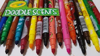 crayola doodle scents washable markers/learn Colors  from crayola/school crayola markers review 2018