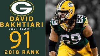 #91: David Bakhtiari (OT, Packers) | Top 100 Players of 2018 | NFL