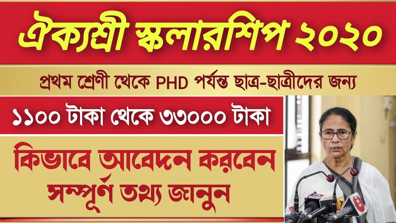 Aikyashree scholarship 2020 | aikyashree scholarship 2020 new update, Aikyashree scholarship 2020-21