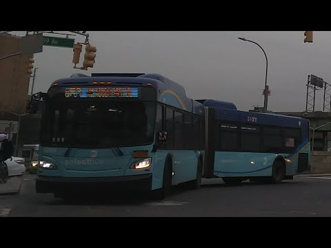 Mta Bus Q29 Bus Orion 5 Cng Turning Onto Woodhaven Blvd Video