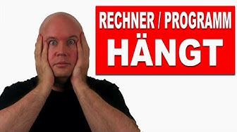 PC ODER iMAC HAT SICH AUFGEHÄNGT!!!
