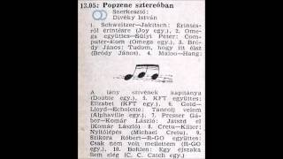 Popzene sztereóban. Szerkesztő: Divéky István. 1986.07.15. Petőfi rádió. 13.05-13.45.