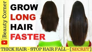 How To Grow Your Hair Faster | Hair Growth Serum At Home | Get Long Thick Hair & Stop Hair Fall