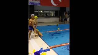 Yüzme antrenmanı sonu süper eğlence ☺