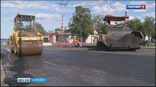Подрядчик латает дороги Петрозаводска, несмотря на расторжение контракта
