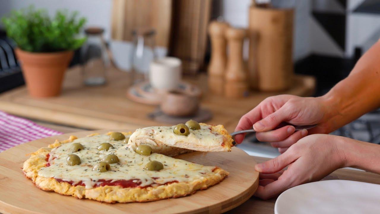 Cómo hacer PIZZA DE MOZZARELLA 🍕 keto, sin harina!