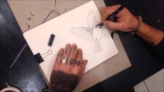 Speed Drawing by Felipe Fego   All Blacks Body Art
