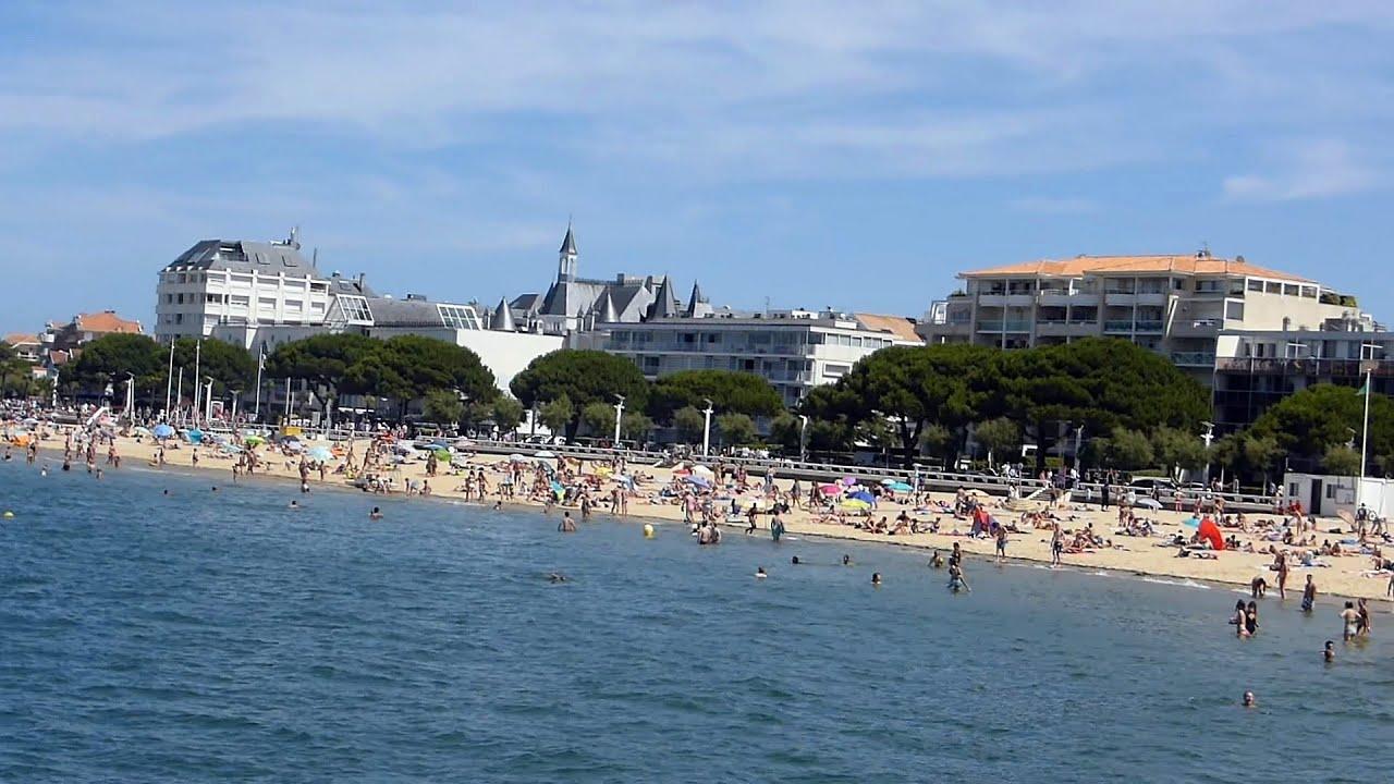 Arcachon centre plage ville d 39 hiver et jardins hd for Piscine arcachon