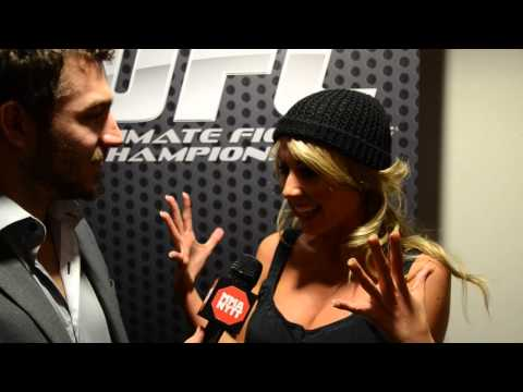 with UFC Octagon Girl Carly Baker