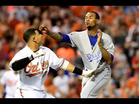 Yordano Ventura and Manny Machado Fight 6/7/16