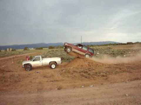 Ford Explorer jumps another truck!