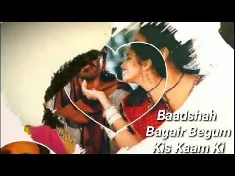 Begam Bagair Badshah Kis Kaam Ka || Sanjay Dutt Bollywood Khalnayak || Hindi Status