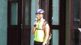 Открытие первого Велодня в Шостке(Выступают представители велоклуба