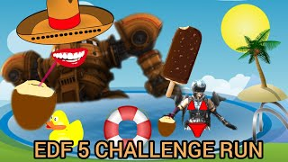 Bobby's Day Off EDF 5 Inferno CHALLENGE Run m93 pt4 Earth Defense Force 5