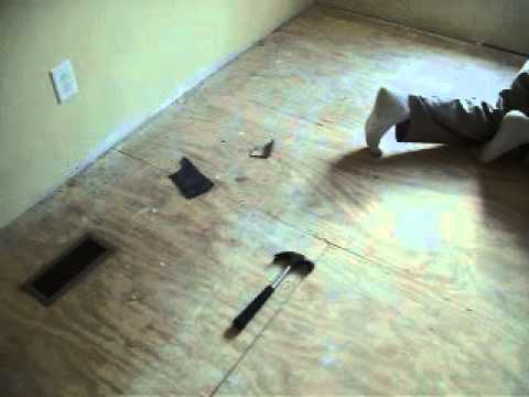 How To Paint Plywood Sub Floors Youtube