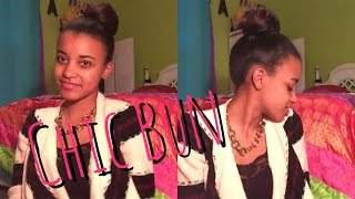 Chic Hair Bun Tutorial // Natural Hair
