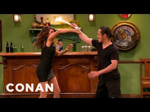 Nina Dobrev s Off Her Action Hero Chops  CONAN on TBS
