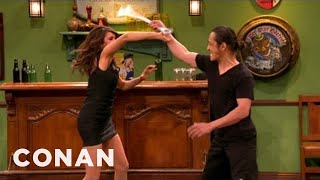 Nina Dobrev Shows Off Her Action Hero Chops - CONAN on TBS