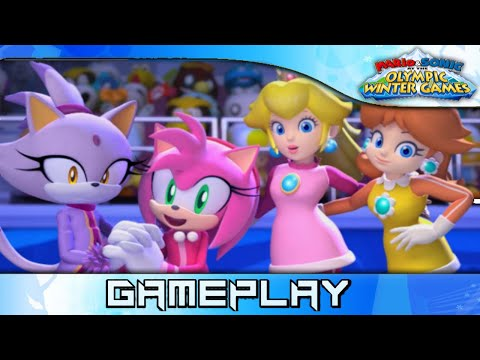 Mario & Sonic at the Olympic Winter Games: Amy, Blaze, Daisy, Peach ❰2K 60FPS❱