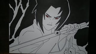 Sasuke Uchiha.サスケのサスケを描画する方法.