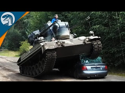 TANK CRUSHES CAR & COLD WAR BUNKER | Rappack Tour 2016