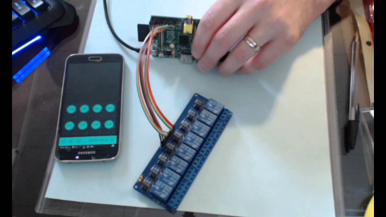 Using Blynk And Raspberry Pi To Control An 8 Port Relay Youtube Switch For