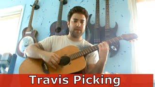 Guitar Tutorial: Travis Picking / Ragtime Picking - Fingerstyle Lesson