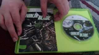 Nostalgamer Unboxes Ninja Blade On Microsoft Xbox 360 PAL Version