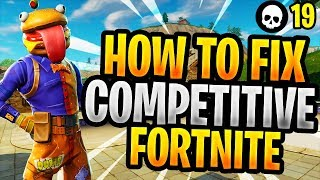 How To Fix Competitive Fortnite In 3 Steps! (Battle Royale Season 5 Gameplay)
