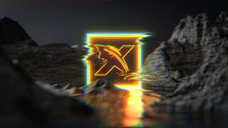 Neon Glitch Water Terrain Logo | After Effects template