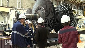 Visite du réacteur numéro 4 à la centrale nucléaire de Gravelines
