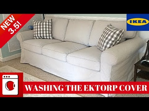 WASHING THE IKEA EKTORP 3.5 COVER | KID AND PET FRIENDLY COUCH!