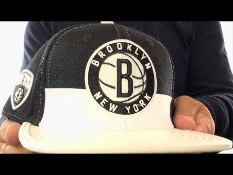 premium selection a3b64 afc93 Nets  HORIZON STRAPBACK  Black-White Hat by Pro Standard