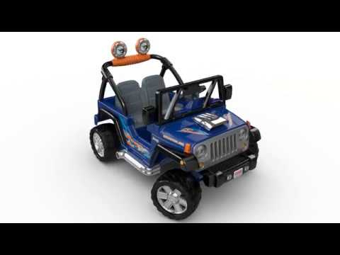 fisher price power wheels hot wheels jeep wrangler youtube. Black Bedroom Furniture Sets. Home Design Ideas