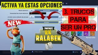 ACTIVATE these new options in Fortnite mini HACK and become PRO 3 tricks + ps4 configuration