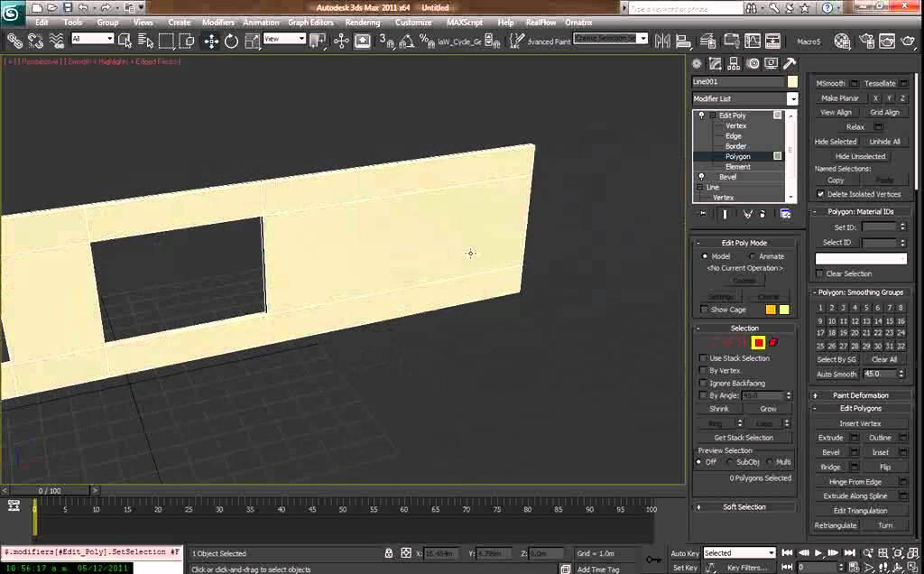 como hacer un muro con ventanas en 3d max youtube
