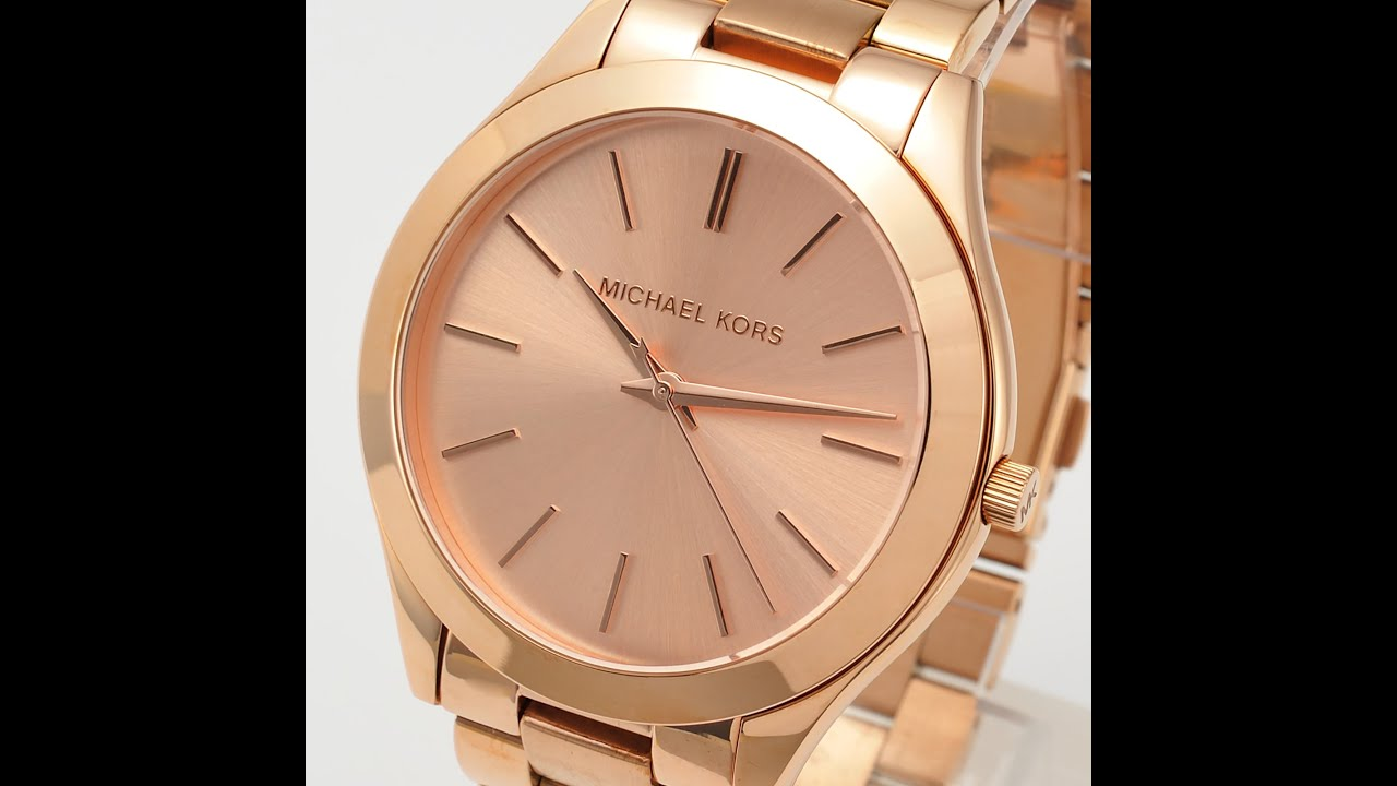michael kors watch mk3197 slim runway rose gold review ladies youtube. Black Bedroom Furniture Sets. Home Design Ideas