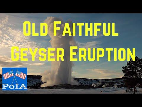 Old Faithful Geyser Eruption; Top Point of Interest, HD Footage of Yellowstone's Old Faithful Geyser