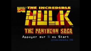 Gameplay Ps1 - The Incredible Hulk: The Pantheon Saga PAL FR (1996)