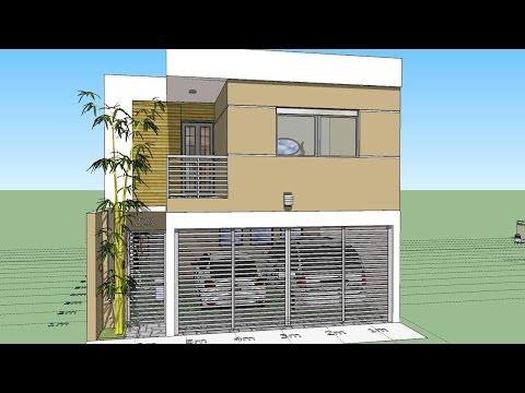 Plano 7x15 mts pb vda doovi for Como disenar una casa en 3d