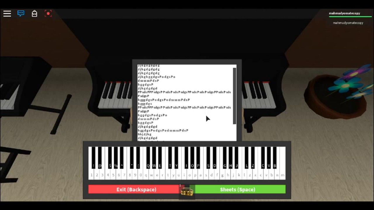 Practising 7 Years Old On Piano Roblox Sheet In Description