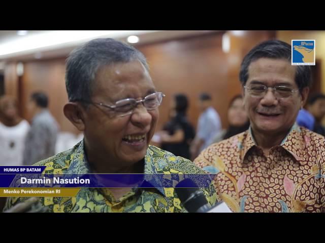 Menko Perekonomian Menjadi Saksi Mou BP Batam dan Investor Asal Singapura