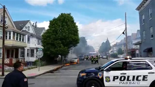 BRAKING NEWS- CAR FIRE IN PASSAIC, NJ